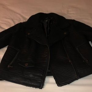 Sheep/ faux leather jacket